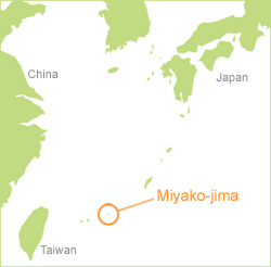 Map of Miyako-jima