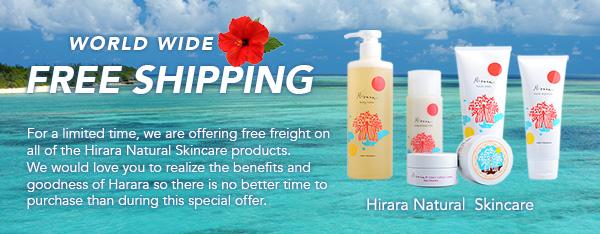 World WIde Free Shipping - Hirara Natural Skincare